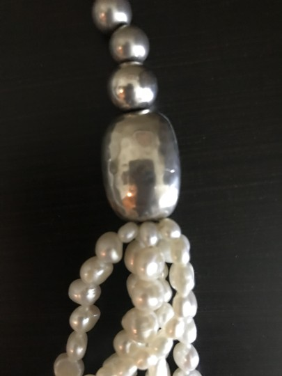 Silpada Silver bead Pearl Necklace N1565 Image 1