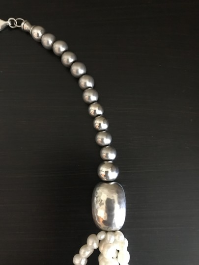 Silpada Silver bead Pearl Necklace N1565 Image 2