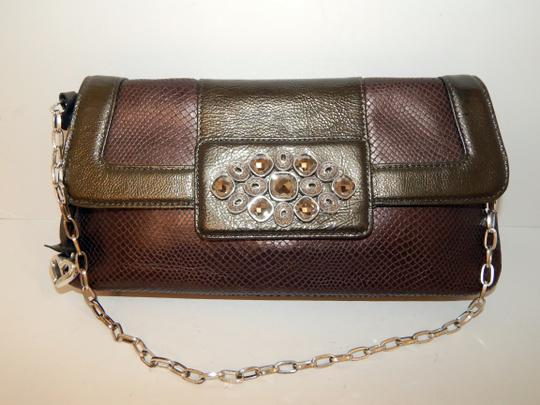 Brighton Leather Jeweled Clutch Chain Shoulder Bag Image 11