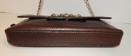 Brighton Leather Jeweled Clutch Chain Shoulder Bag Image 5