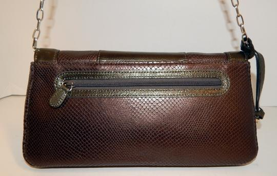 Brighton Leather Jeweled Clutch Chain Shoulder Bag Image 6