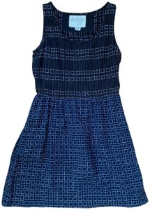 ace&jig short dress Blue & White Woven Cotton on Tradesy