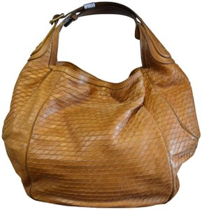 Givenchy Infinite Snakeskin Textured Leather Hobo Bag