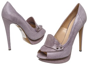 Nicholas Kirkwood Peep Toe Purple Pumps