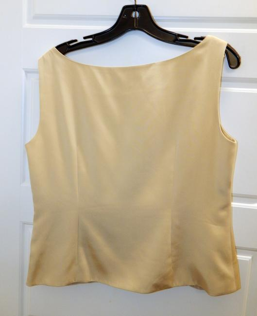 Lafayette 148 New York Shell Top Champagne Image 3