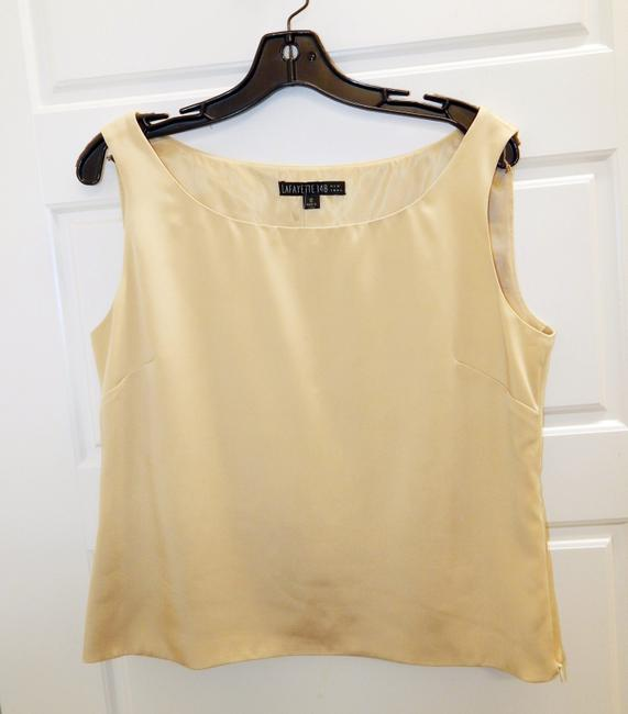 Lafayette 148 New York Shell Top Champagne Image 4