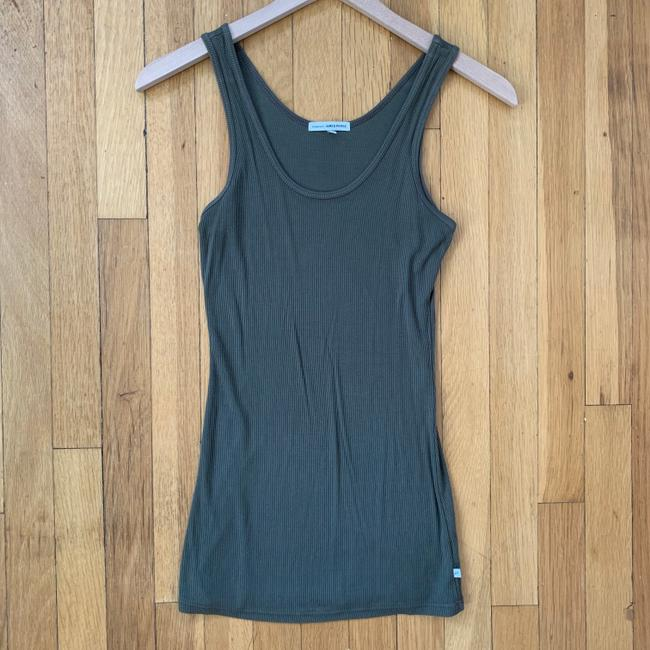 James Perse Lycra Ribbed Sleeveless Top Olive Green Image 1