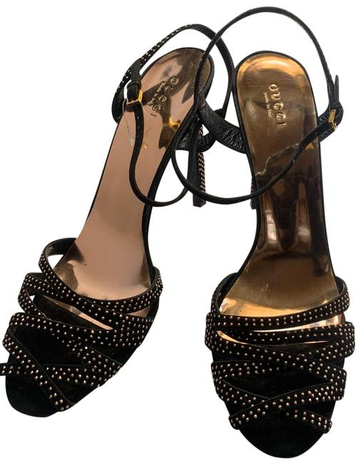 Item - Black Suede Heels Sandals Formal Shoes Size EU 39 (Approx. US 9) Regular (M, B)