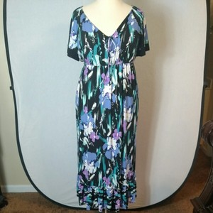 Purple Floral Maxi Dress by Tiana B.
