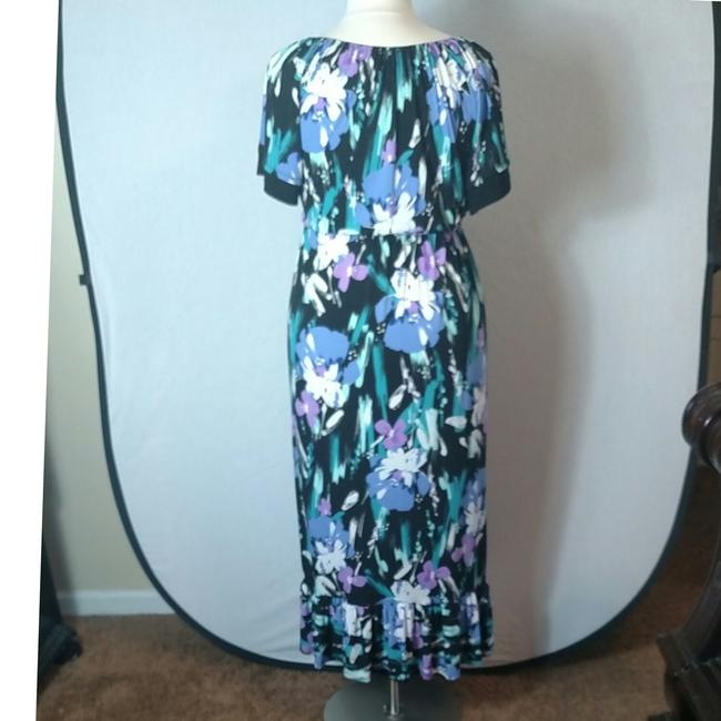 Purple Floral Maxi Dress by Tiana B. Image 2