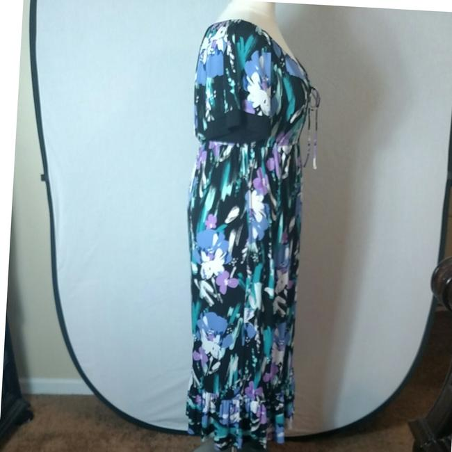 Purple Floral Maxi Dress by Tiana B. Image 4