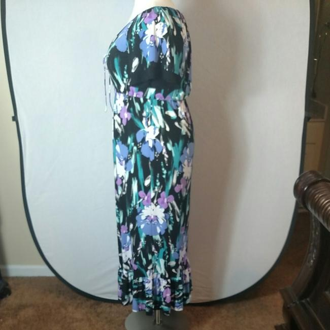 Purple Floral Maxi Dress by Tiana B. Image 6