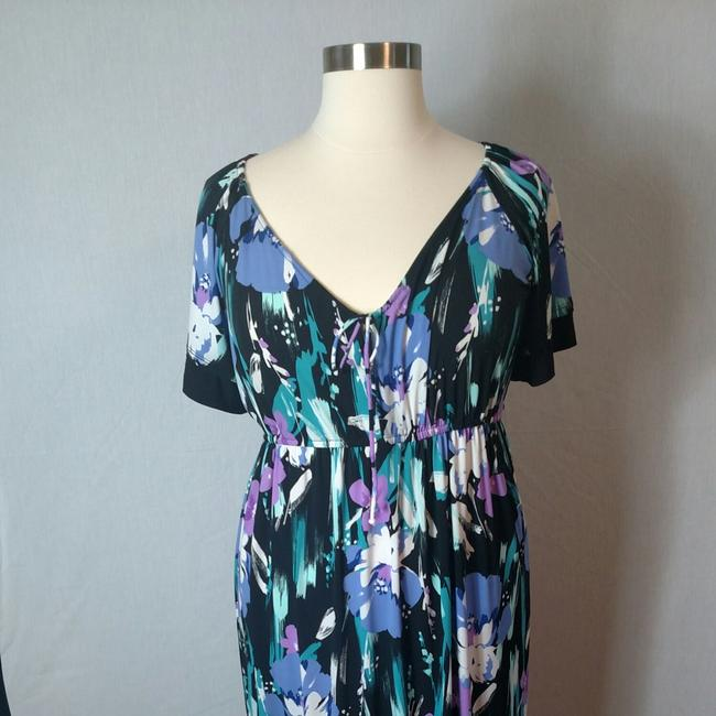 Purple Floral Maxi Dress by Tiana B. Image 9