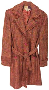 Ice Colorful Tweed Lightweight Blend Trench Coat