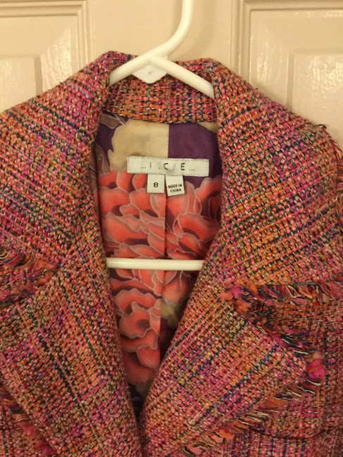 Ice Colorful Tweed Lightweight Blend Trench Coat Image 1