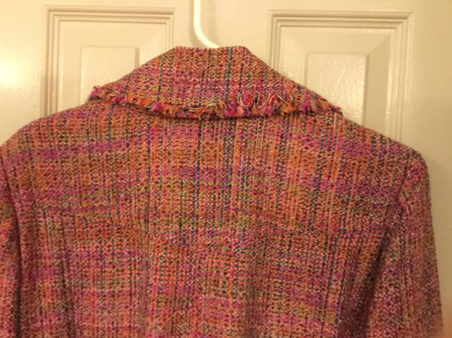 Ice Colorful Tweed Lightweight Blend Trench Coat Image 2