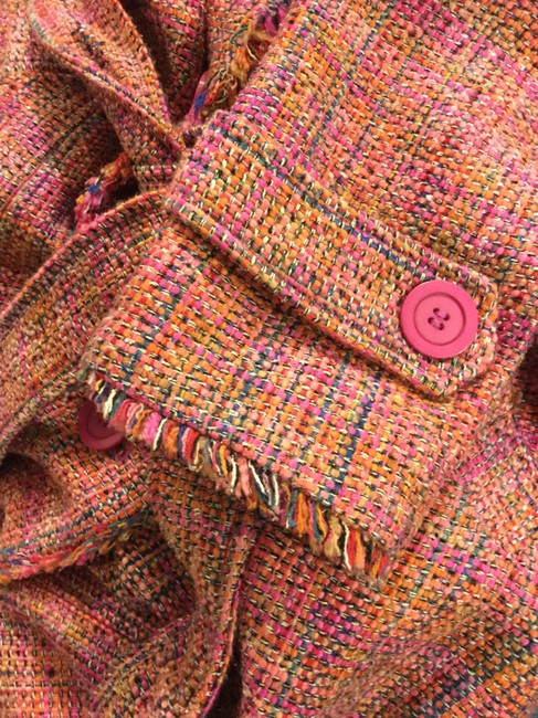 Ice Colorful Tweed Lightweight Blend Trench Coat Image 5
