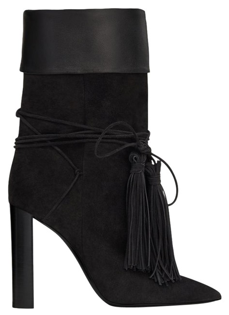 Saint Laurent Black Tánger Tassle Boots/Booties Size EU 37.5 (Approx. US 7.5) Regular (M, B) Saint Laurent Black Tánger Tassle Boots/Booties Size EU 37.5 (Approx. US 7.5) Regular (M, B) Image 1