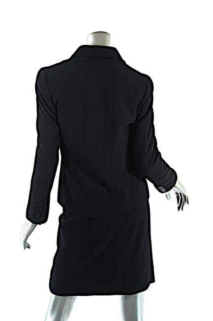 Chanel CHANEL Black Wool Blend Boucle DB Jacket and Skirt SUIT C98A Image 2