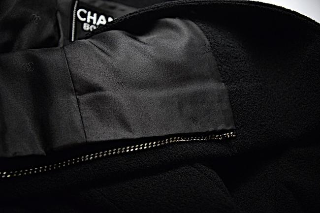 Chanel CHANEL Black Wool Blend Boucle DB Jacket and Skirt SUIT C98A Image 8