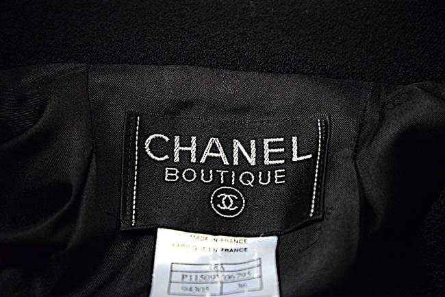 Chanel CHANEL Black Wool Blend Boucle DB Jacket and Skirt SUIT C98A Image 9