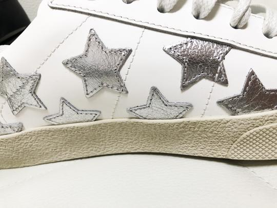 Saint Laurent Ysl Sneaker Classic Leather White Athletic Image 3
