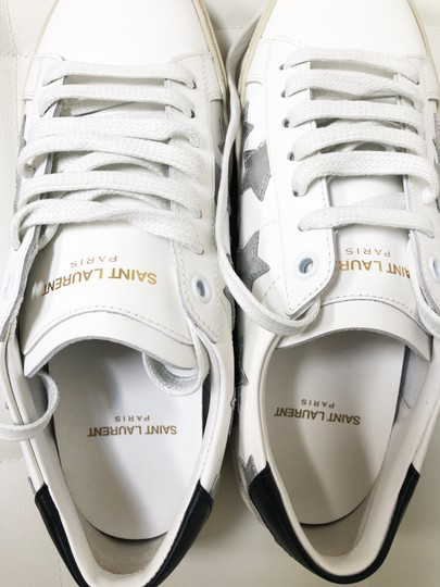 Saint Laurent Ysl Sneaker Classic Leather White Athletic Image 6