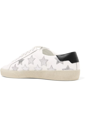 Saint Laurent Ysl Sneaker Classic Leather White Athletic Image 9