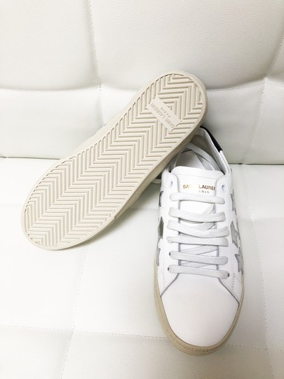 Saint Laurent Ysl Sneaker Classic Leather White Athletic Image 5