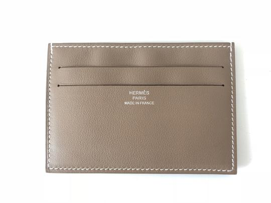 Hermès Citizen Twill RARE Etoupe Grey Card Holder Image 0