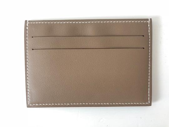 Hermès Citizen Twill RARE Etoupe Grey Card Holder Image 2