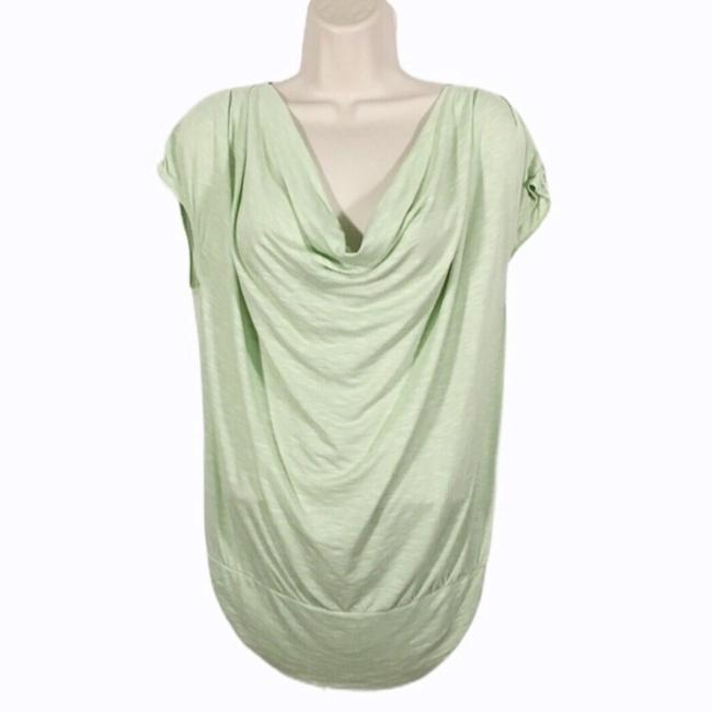 Item - Mint Green Draped Neck Blouse Size 12 (L)