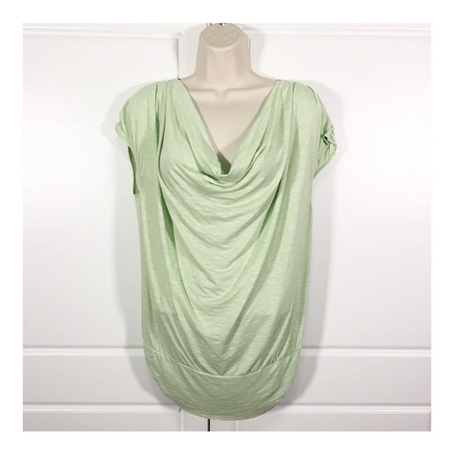 Max Edition Mint Green Draped Neck Blouse Size 12 (L) Max Edition Mint Green Draped Neck Blouse Size 12 (L) Image 1