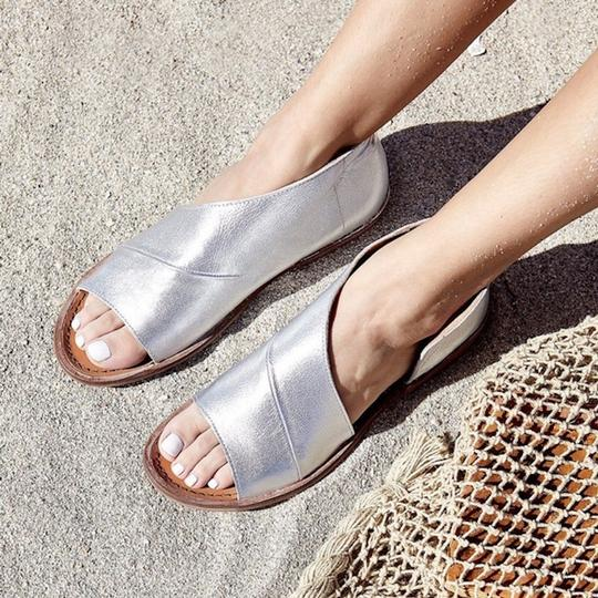 Free People silver Flats Image 4