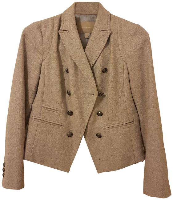 Item - Grey Short Wool Double Breasted Jacket Size Petite 4 (S)