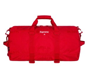 Supreme red Travel Bag
