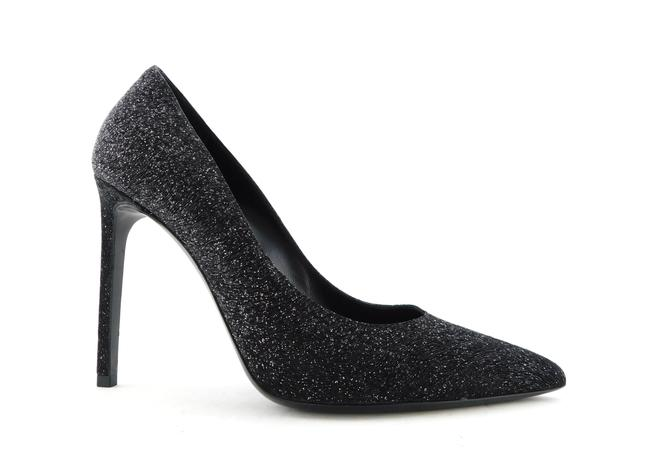 Saint Laurent Black Ysl Glitter Crepe Classic Heels Pumps Size EU 38.5 (Approx. US 8.5) Regular (M, B) Saint Laurent Black Ysl Glitter Crepe Classic Heels Pumps Size EU 38.5 (Approx. US 8.5) Regular (M, B) Image 1