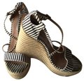 Tabitha Simmons Black/ White Jenny Striped Silk Espadrille Sandal Wedges Size EU 38.5 (Approx. US 8.5) Regular (M, B) Tabitha Simmons Black/ White Jenny Striped Silk Espadrille Sandal Wedges Size EU 38.5 (Approx. US 8.5) Regular (M, B) Image 1