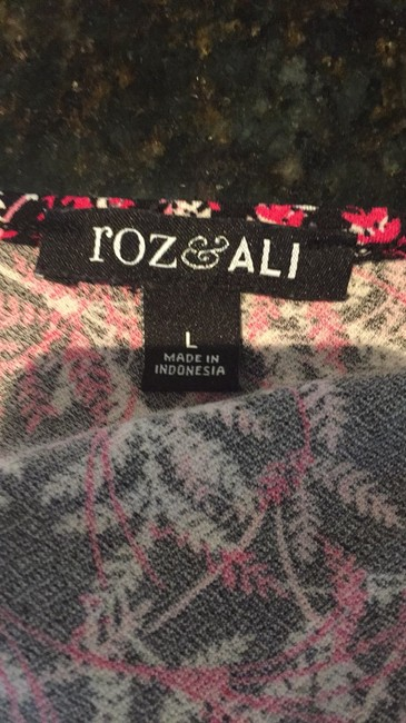 Roz & Ali Top Pink and black Image 4