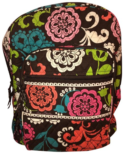 Preload https://img-static.tradesy.com/item/25690699/vera-bradley-campus-tech-brown-w-floral-design-cotton-backpack-0-1-540-540.jpg