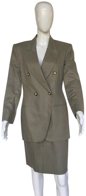 Preload https://img-static.tradesy.com/item/25690728/jones-new-york-olive-green-linen-skirt-suit-size-8-m-0-1-650-650.jpg