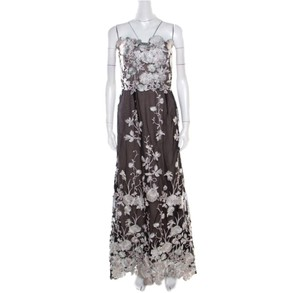 Black Maxi Dress by Marchesa Notte Floral Embroidered