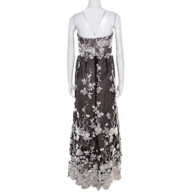 Black Maxi Dress by Marchesa Notte Floral Embroidered Image 2