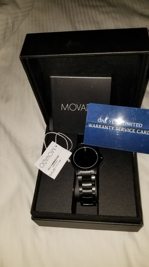 Movado Beautiful sleek all black Men's Movado Image 1