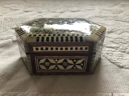 Mother Of Pearl Hand Made Jewelry Box hand crafted wooden jewelry box with mother of pearl mosaic Image 2