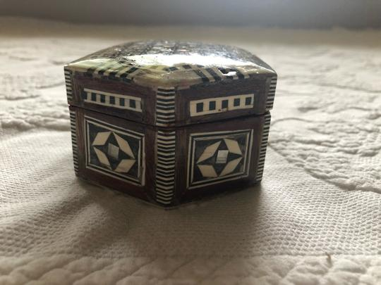 Mother Of Pearl Hand Made Jewelry Box hand crafted wooden jewelry box with mother of pearl mosaic Image 4