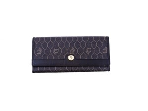 Dior Trotter Monogram Canvas Leather Long Clutch Wallet