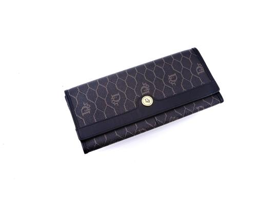 Dior Trotter Monogram Canvas Leather Long Clutch Wallet Image 1
