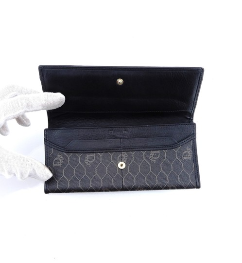 Dior Trotter Monogram Canvas Leather Long Clutch Wallet Image 6