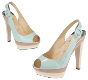Christian Louboutin Ice blue/beige Platforms
